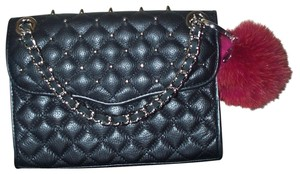 Rebecca Minkoff Leather Quilted Sliding Chain Cross Body Bag