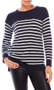 Kate Spade Striped Wool Crystal Embelished Sweater