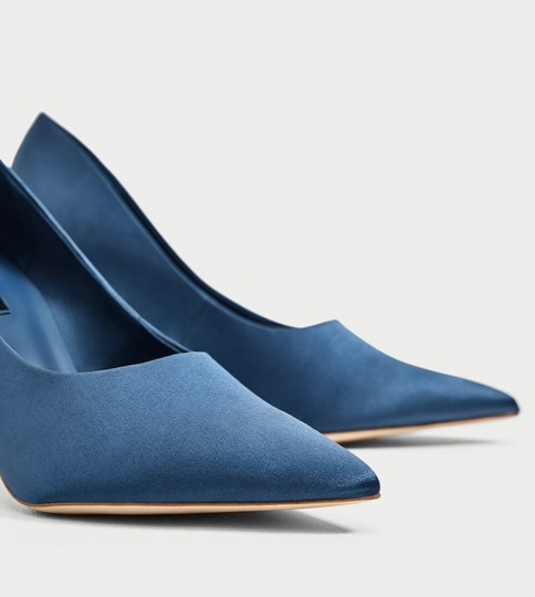 Zara blue Pumps Image 4