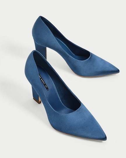 Zara blue Pumps Image 5