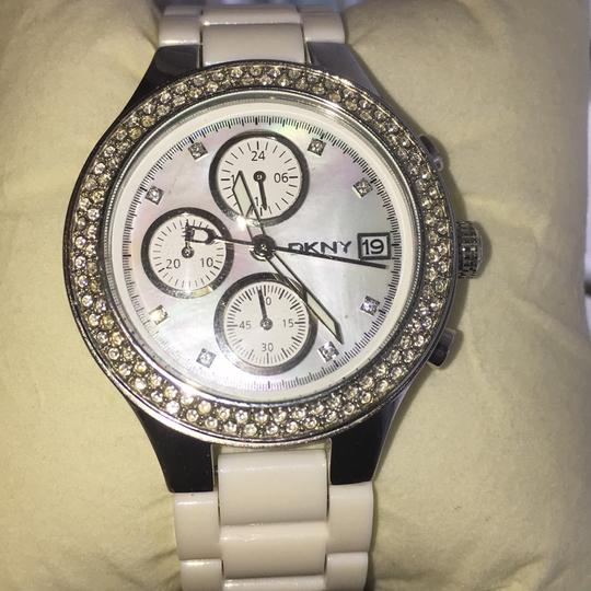 DKNY dkny white and stainless steel watch Image 6