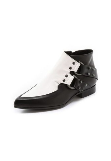 Item - Black & White Two Tone Boots/Booties Size EU 38 (Approx. US 8) Regular (M, B)