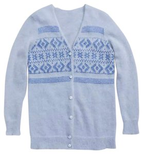 Coach Cardigan Fair Isle Mohair Sweater