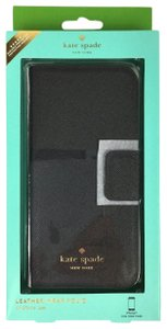 Kate Spade Kate Spade WIRU0533 Black Leather Folio for iPhone 7 Case