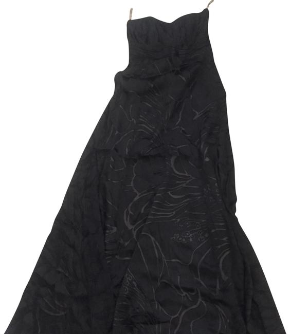 Item - Black Flare Strapless Gown Long Formal Dress Size 6 (S)