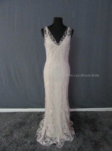 Watters Softrose Embroidered Tulle Willowby Style Elsie 57619 Feminine Wedding Dress Size 6 S