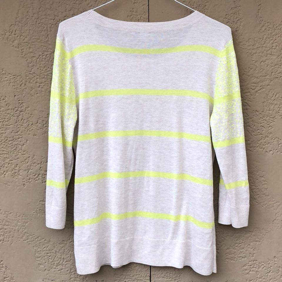 d5bb2be4eb Halogen Neon Sequins Cream and Yellow Sweater - Tradesy