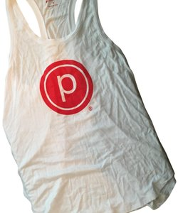 Pure Barre Top White and Red
