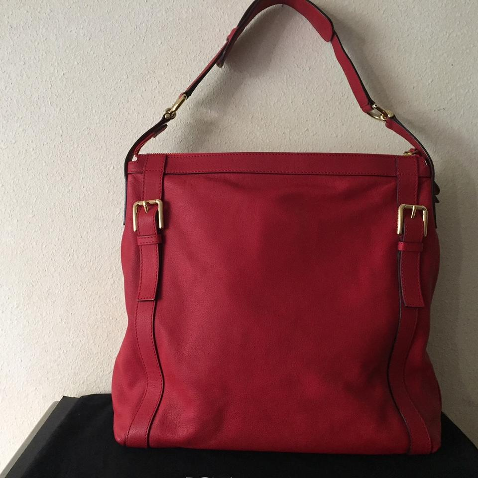 Dolce Red Tote amp;Gabbana Leather Italian Chic vwwZSqp0OW