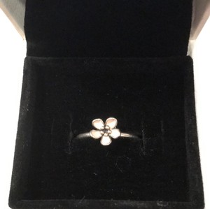 PANDORA Silver Cherry Blossom Ring with Pink Enamel