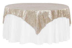 "Champagne Gold Four (4) 72""X72"" Tablecloth"