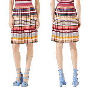 Gucci Striped Striped Metallic Skirt Multi