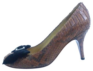 Lanvin Brown Python Pumps
