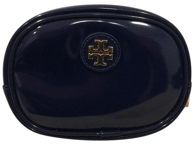 Tory Burch Blue Patent Leather with Gold Tone Hardware Cosmetic Bag Tory Burch Blue Patent Leather with Gold Tone Hardware Cosmetic Bag Image 1