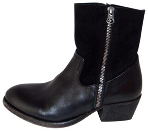 H by Hudson Black Side Zip Western Boots