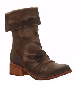Antelope Brown Fold Over Mid calf Boots