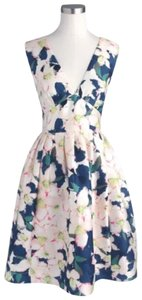 J.Crew Collection Cove Floral Silk 0 Dress