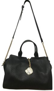 Versace Leather Metallic Hardware Shoulder Bag