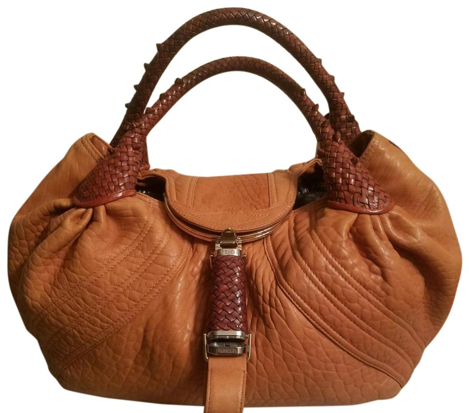 2dedfb70e10a Fendi Spy Caramel and Brown Leather Hobo Bag - Tradesy