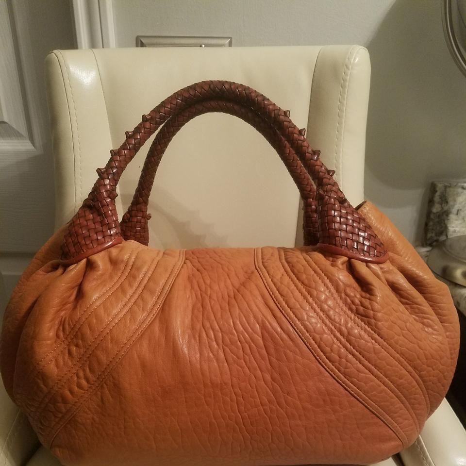 c8046a8c4fe0 Fendi Spy Caramel and Brown Leather Hobo Bag - Tradesy