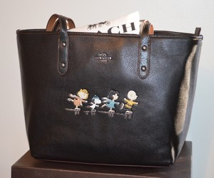Coach Snoopy Tote in BLACK