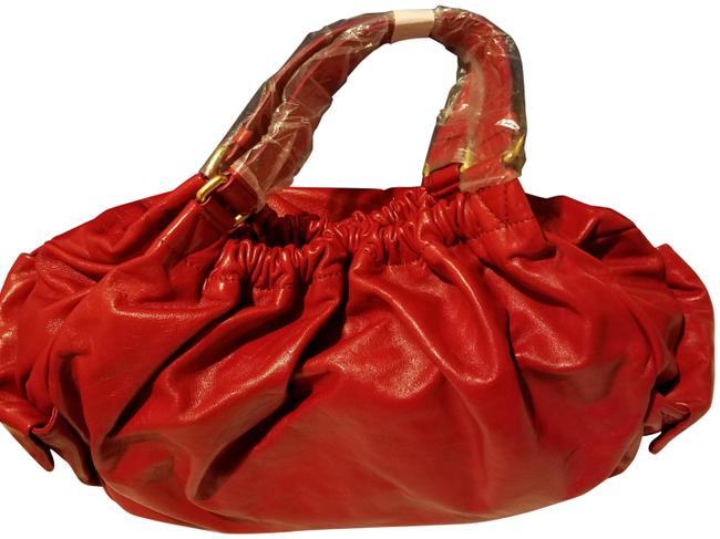 Item - Ruby Red Italian Leather Hobo Bag