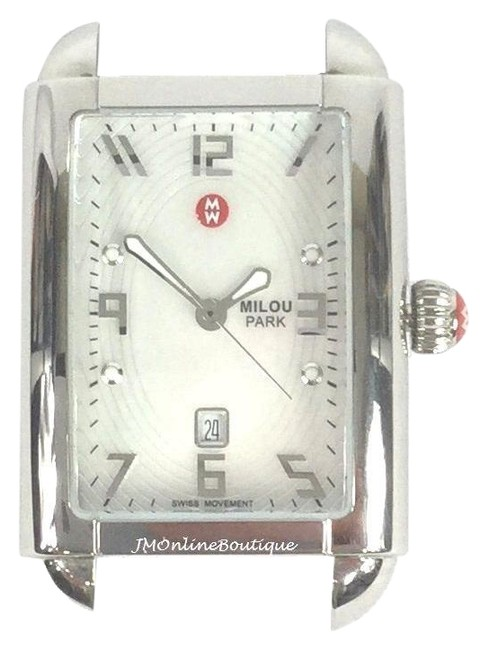 Michele Silver Tone Mw15c00a0025 Rectangle Milou Head Watch Michele Silver Tone Mw15c00a0025 Rectangle Milou Head Watch Image 1