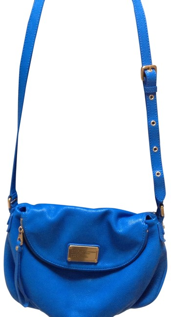 Item - Natasha Scuba Blue Leather Cross Body Bag