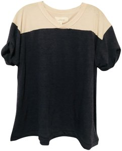 The Great. Athletic Sleeved Cotton T Shirt Navy