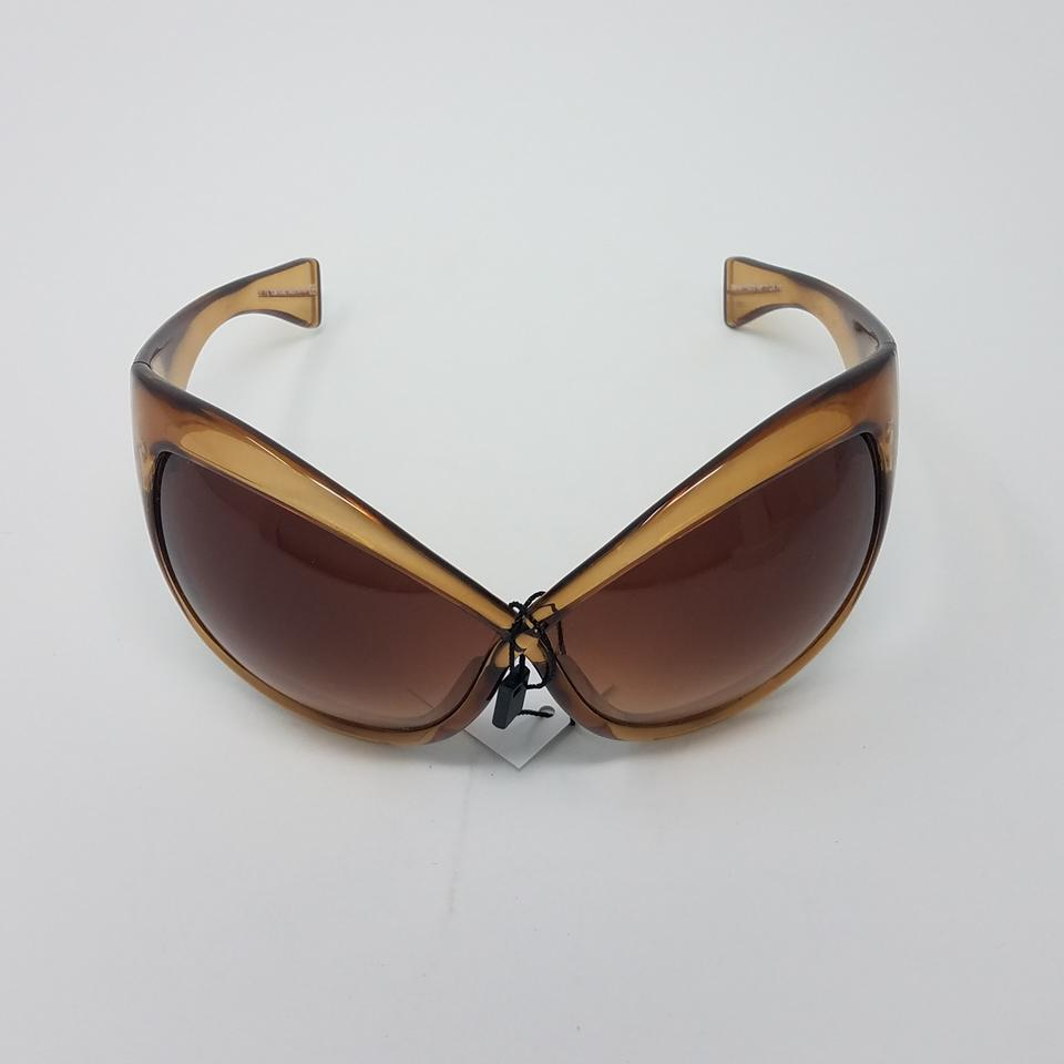 84c9a9123f66 Tom Ford Beige Brown Gold Tan Daphne Oversize Sunglasses - Tradesy