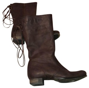 Vialis Brown / distressed leather treatment Boots