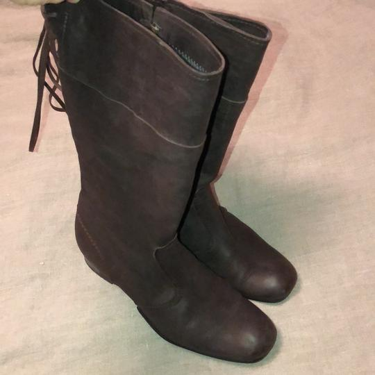 Vialis Brown / distressed leather treatment Boots Image 1