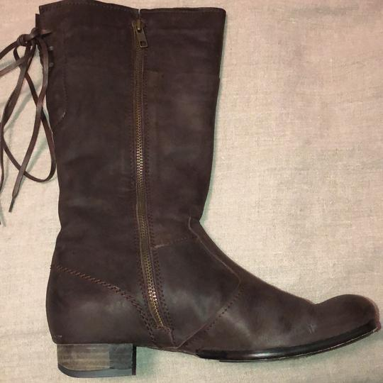 Vialis Brown / distressed leather treatment Boots Image 5