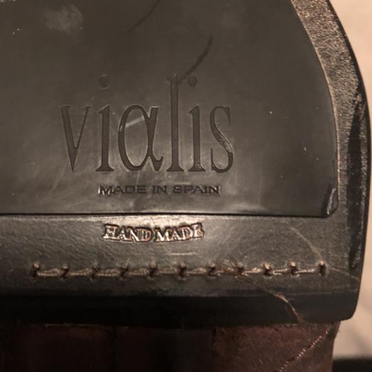 Vialis Brown / distressed leather treatment Boots Image 7