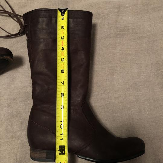 Vialis Brown / distressed leather treatment Boots Image 9