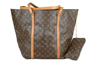 Louis Vuitton Sac Shopping Leather Tote in Brown
