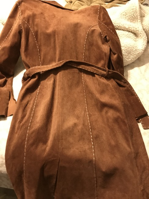 Wilsons Leather Suede Trench Brown Leather Jacket Image 1