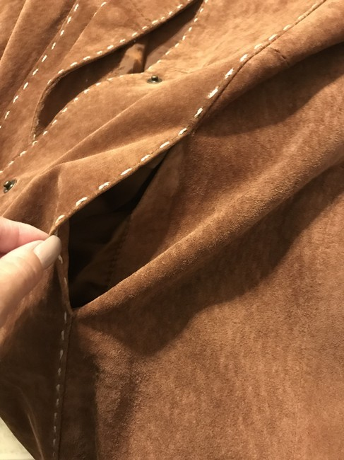 Wilsons Leather Suede Trench Brown Leather Jacket Image 3