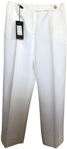 Piazza Sempione Saks New With Tags Optic Relaxed Pants White