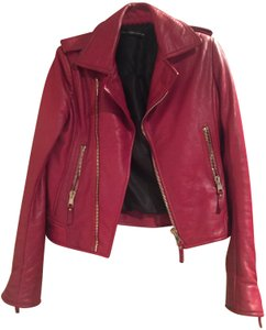 Balenciaga Leather Merlot/Red Jacket