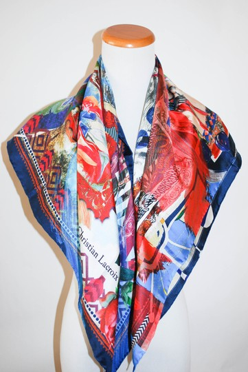 Christian Lacroix NWT AUTHENTIC CHRISTIAN LACROIX MULTICOLOR 34X34' SILK ITALY WOMEN SQU Image 2