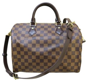 Louis Vuitton Damier Ebene Speedy Bandouliere 30 Shoulder Bag