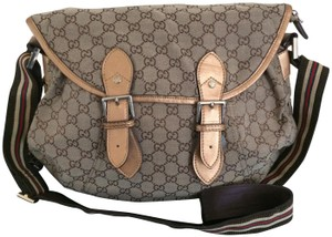 Gucci Gg Brown Diaper Bag