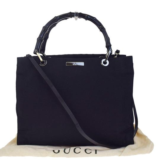 Preload https://img-static.tradesy.com/item/22820318/gucci-2way-bamboo-shoulder-hand-bamboo-02eb663-black-nylon-leather-satchel-0-0-540-540.jpg