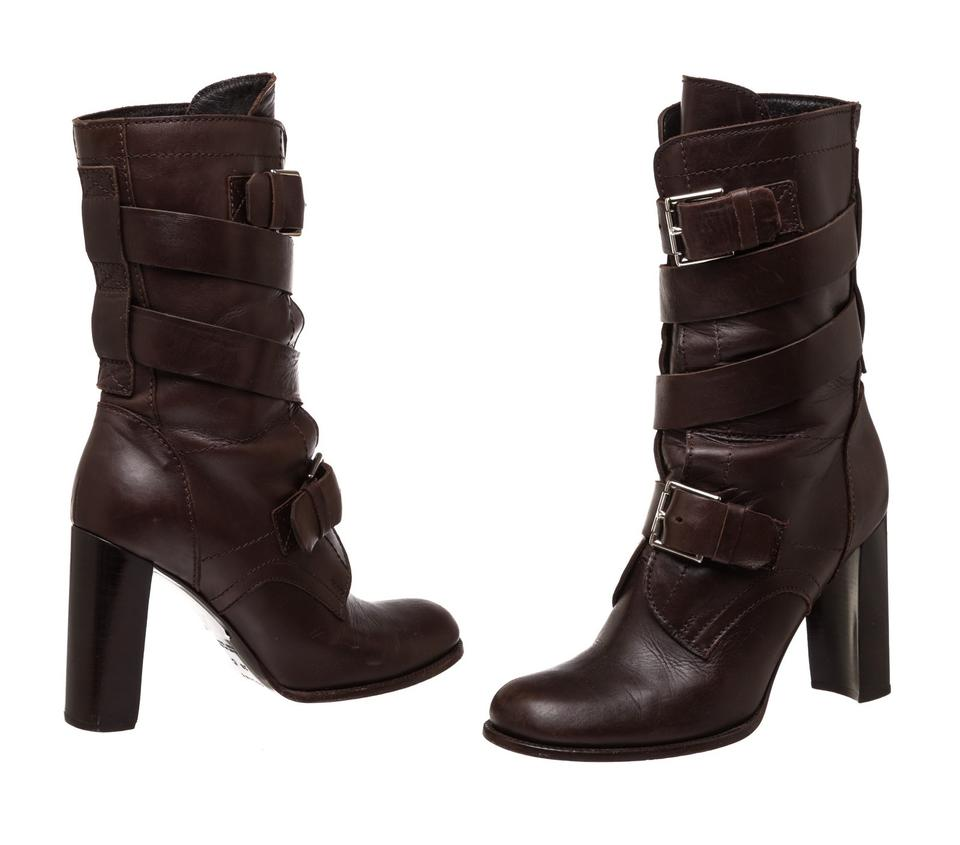 Céline Brown Leather Buckle Buckle Leather 475848 Boots/Booties a59c9e