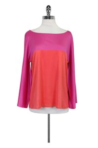 Emilio Pucci Neck Top Pink & Orange