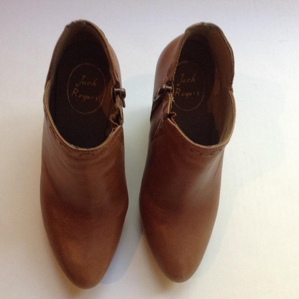 4fa30b50711 Jack Rogers Tan Leather Wedge Ankle Boots/Booties Size US 6 Regular ...