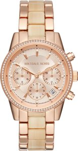 Michael Kors Michael Kors WOMENS Ritz Rose Gold Acetate Chronograph Watch MK6493