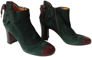 Chie Mihara Teal Suede & Brown Leather Boots