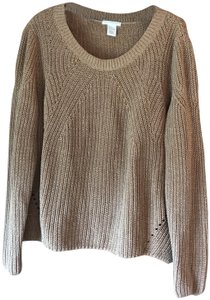 H&M Long Sleeves Rounded Neckline Pullover Style Vented Cotton Blend Sweatshirt